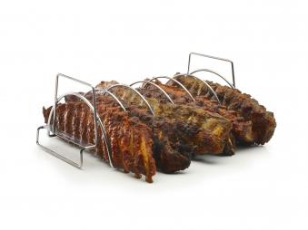 Spare Rib Halter / Bratenkorb barbecook Edelstahl Bild 3