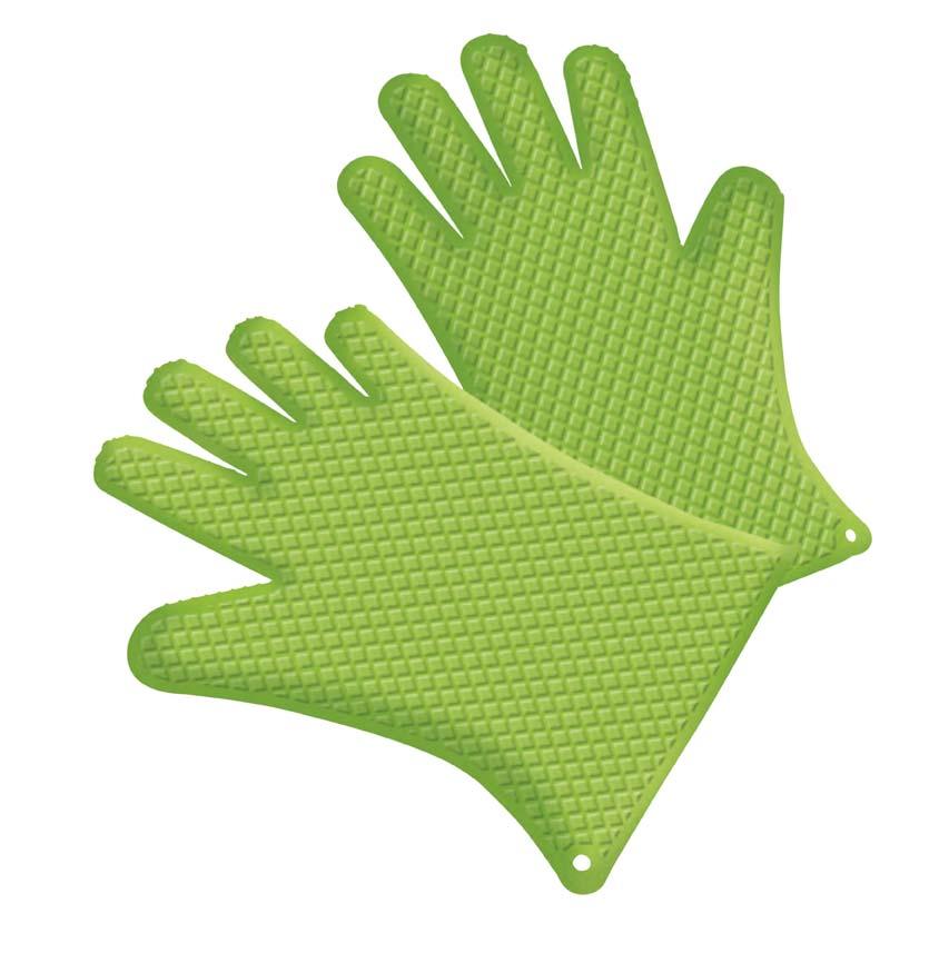 Tepro Silikon Grillhandschuh Paar grün Bild 1