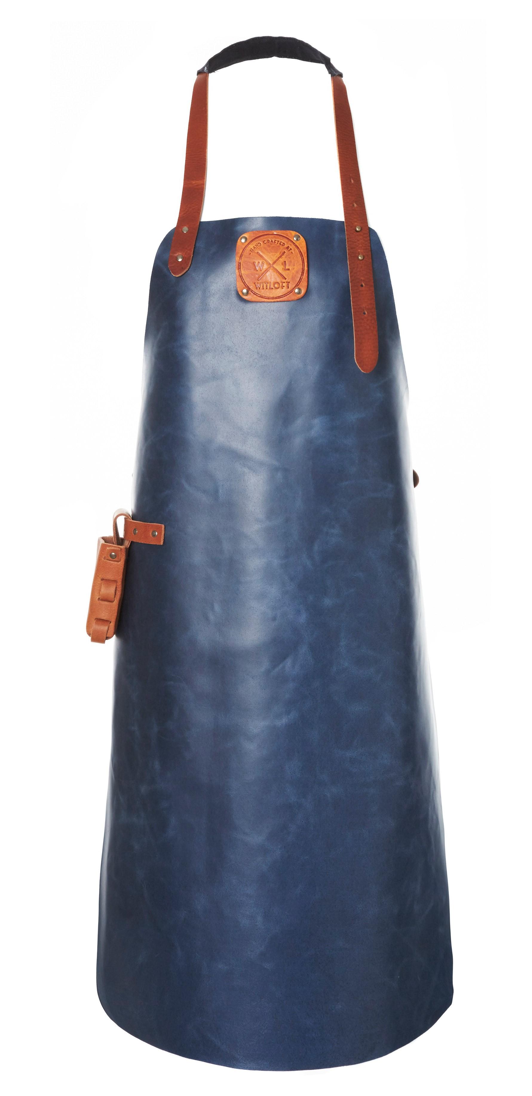 Witloft Grillschürze / Lederschürze Navy/Cognac Größe L Bild 1