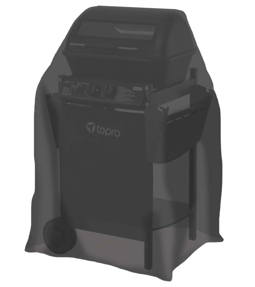 Abdeckhaube / Schutzhülle Tepro Gasgrill klein schwarz Bild 1