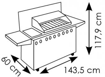 Schutzhülle Wehncke Deluxe für Gasgrill 143,5x60x117,9cm anthrazit Bild 2
