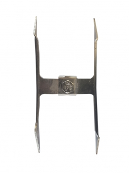 Edelstahl Spießgabel doppelt 8 mm Bild 1