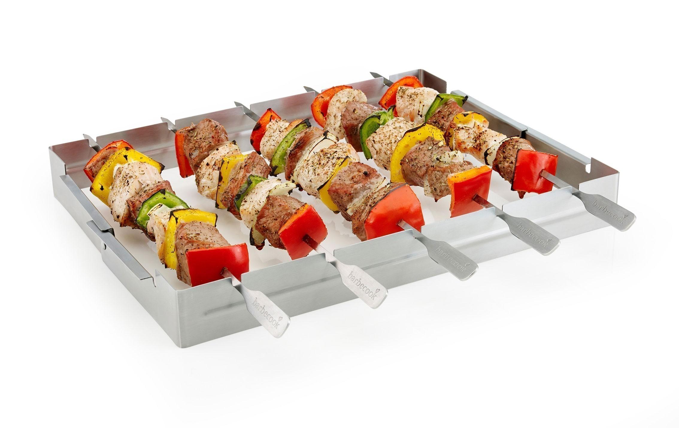 Grillspießhalter mit 5 Grillspießen barbecook Edelstahl Bild 2