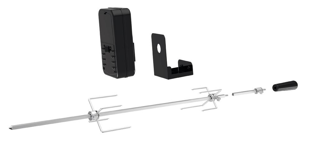 Universal Grillspieß Set Tepro batteriebetrieben für Gasgrill Bild 1