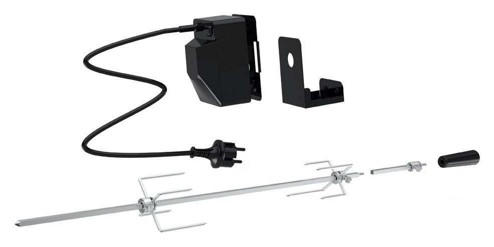 Universal Grillspieß Set Tepro netzbetrieben für Gasgrill Bild 1