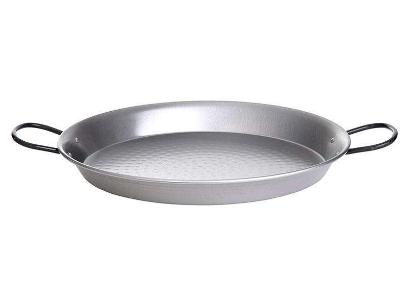 Paella-Pfanne Stahl poliert Ø 130 cm mit 6 Griffen Bild 1