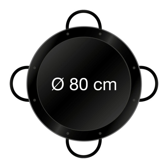 Paella-Pfanne emailliert Ø 80 cm mit 4 Griffen Bild 2