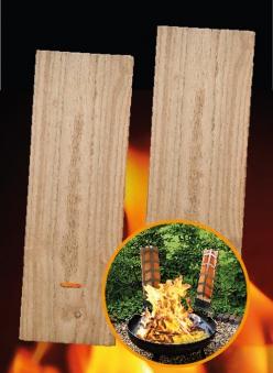 Ersatz Holzbretter für Flammlachshalter 45x15cm - 2 Stück