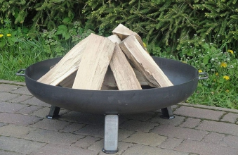Flammlachsbrett, Lachsbrett Buche 50x14x1,9cm mit Halter Bild 3