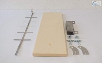 Flammlachsbrett, Lachsbrett Buche 50x14x1,9cm mit Halter Bild 7