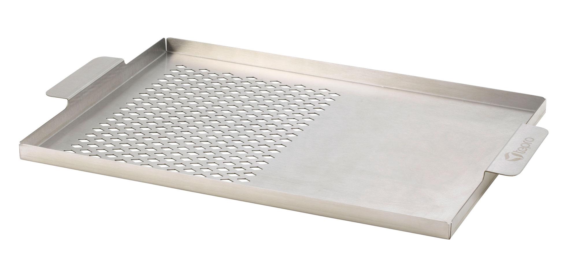 Grillplatte 2-in-1 L Tepro Edelstahl 42,5 x 26,2 cm Bild 1