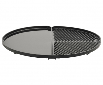 Grillplatte geteilt glatt / geriffelt zu Carri Chef 2 Ø 44 cm Bild 1