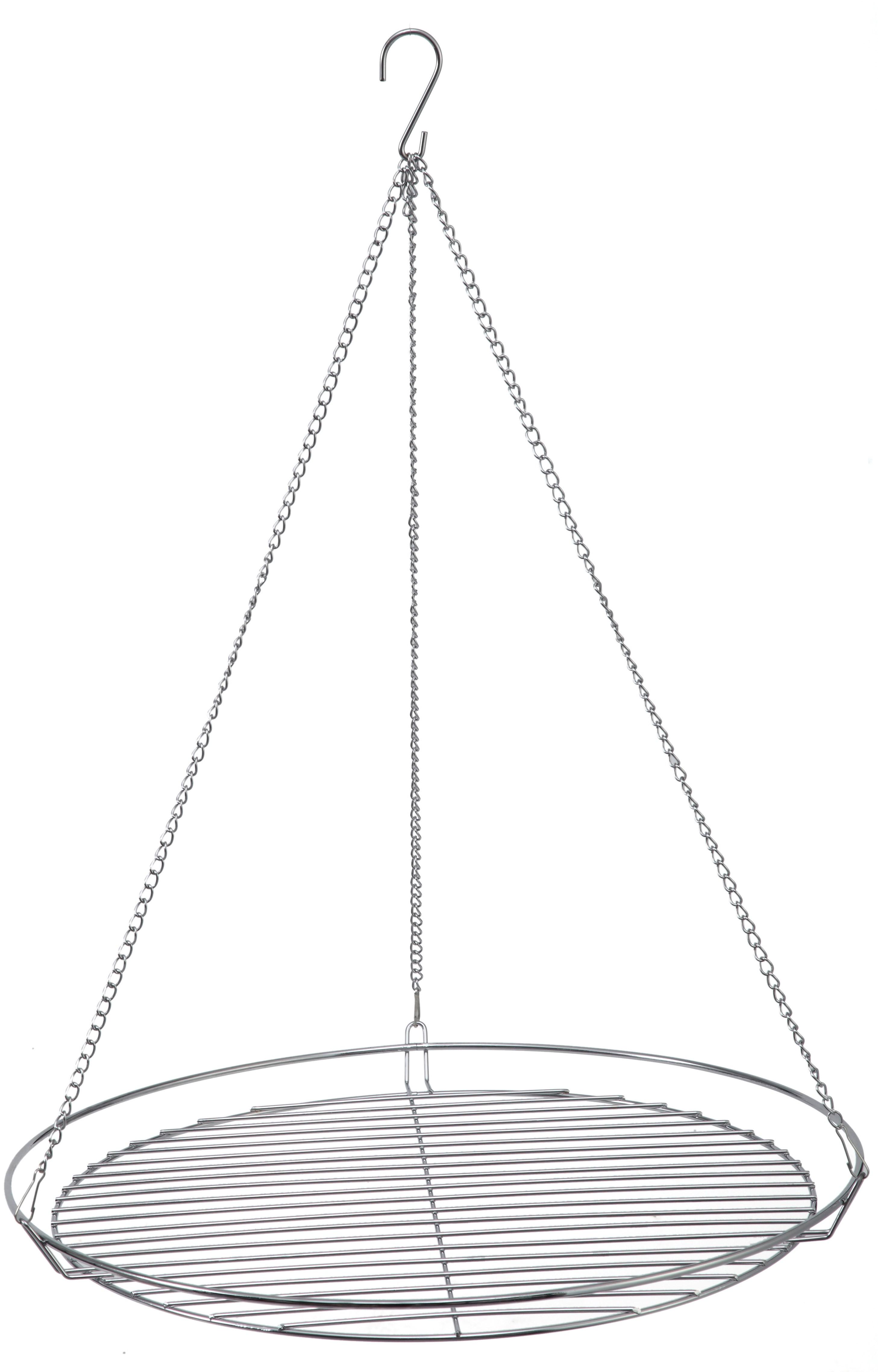 Tepro Grillrost rund mit Kette verchromt Grillfläche Ø49cm Bild 1