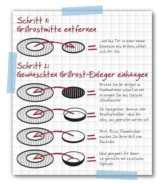 Tepro Gusspfanne / Einleger Grillrost für Ø 47 cm Bild 2