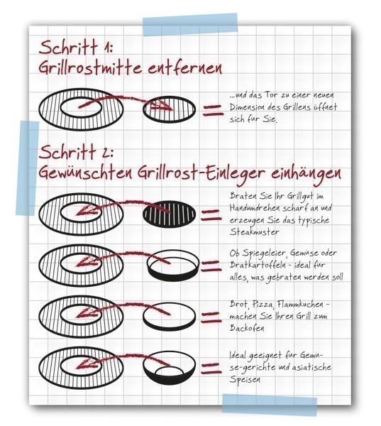 Tepro Gussrost / Guss Grillrost Einleger für Ø 47 cm Bild 2