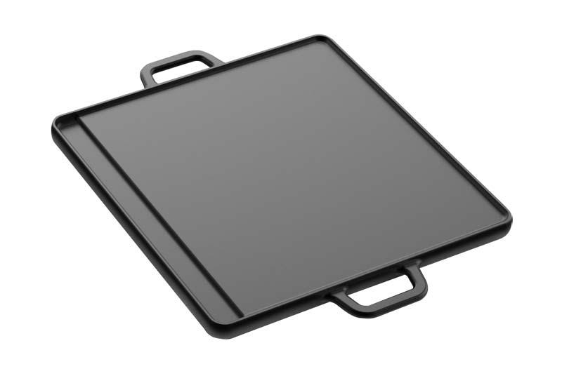 Tepro Wendeplatte Universal Gusseisen Gr. L Grillfläche 30x30cm Bild 1