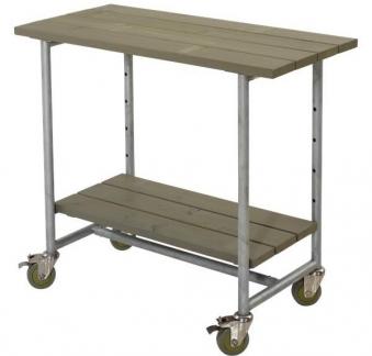 Urban Picnic Grilltisch mit 1 Regal Plus 100x50x90cm grau-braun Bild 1