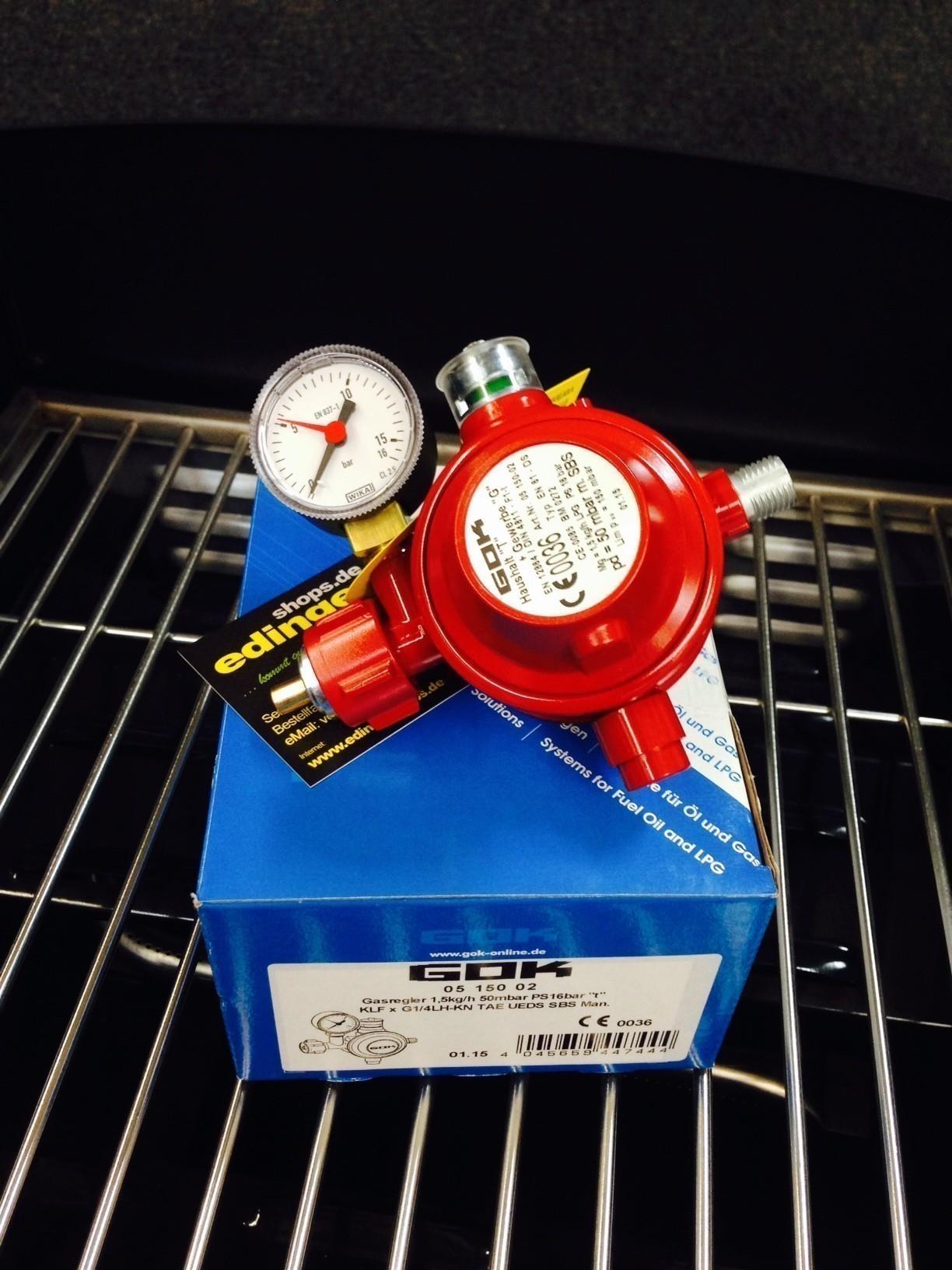 GOK Gasdruckregler / Gasregler für Innen 50mbar 1,5kg/h Bild 2