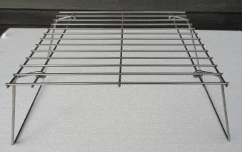 Bon-fire Grillrost mit Füßen aus Stahl zusammenklappbar 28x28x17cm Bild 1