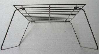 Bon-fire Grillrost mit Füßen aus Stahl zusammenklappbar 28x28x17cm Bild 2