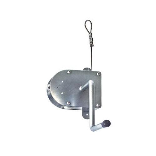 Seilwinde Edelstahl / Kurbel mit 3 m Drahtseil für Grillrost bis Ø70cm Bild 1