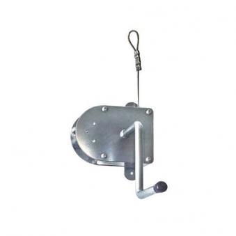 Seilwinde Edelstahl / Kurbel mit 8 m Drahtseil für Grillrost bis Ø70cm Bild 1