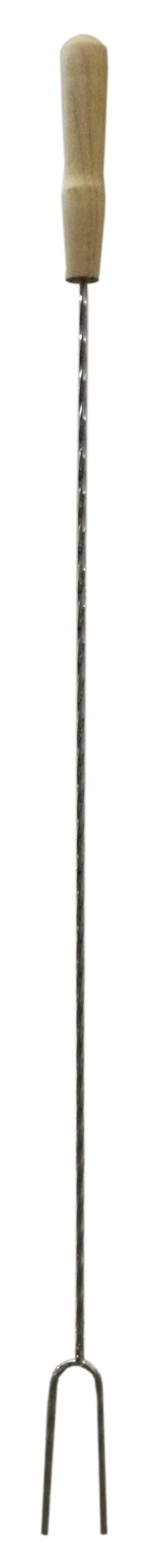 Grillgabel 80cm verchromt Bild 1