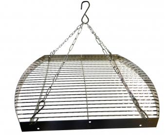 Grillrost mit Kette oval 50cm verchromt Bild 1