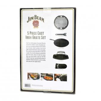 Jim Beam Gusseisernes Grillrost 5-in-1 Set Bild 3