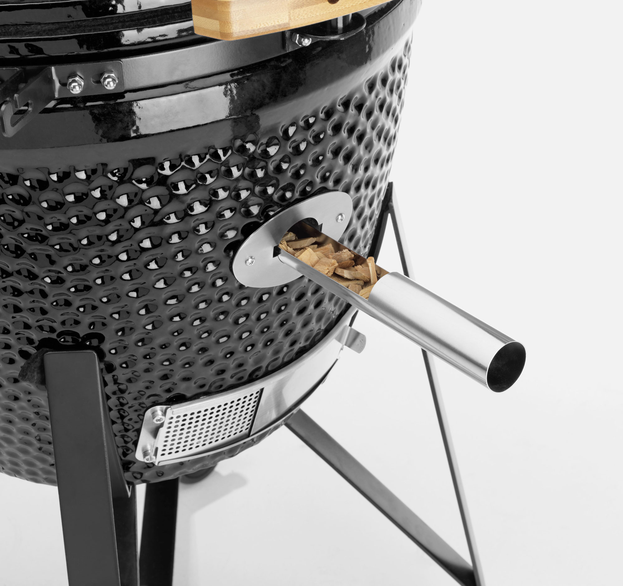 Holzgrill / Keramikgrill Justus Black J'Egg XL Chip Supply Ø47cm Bild 3