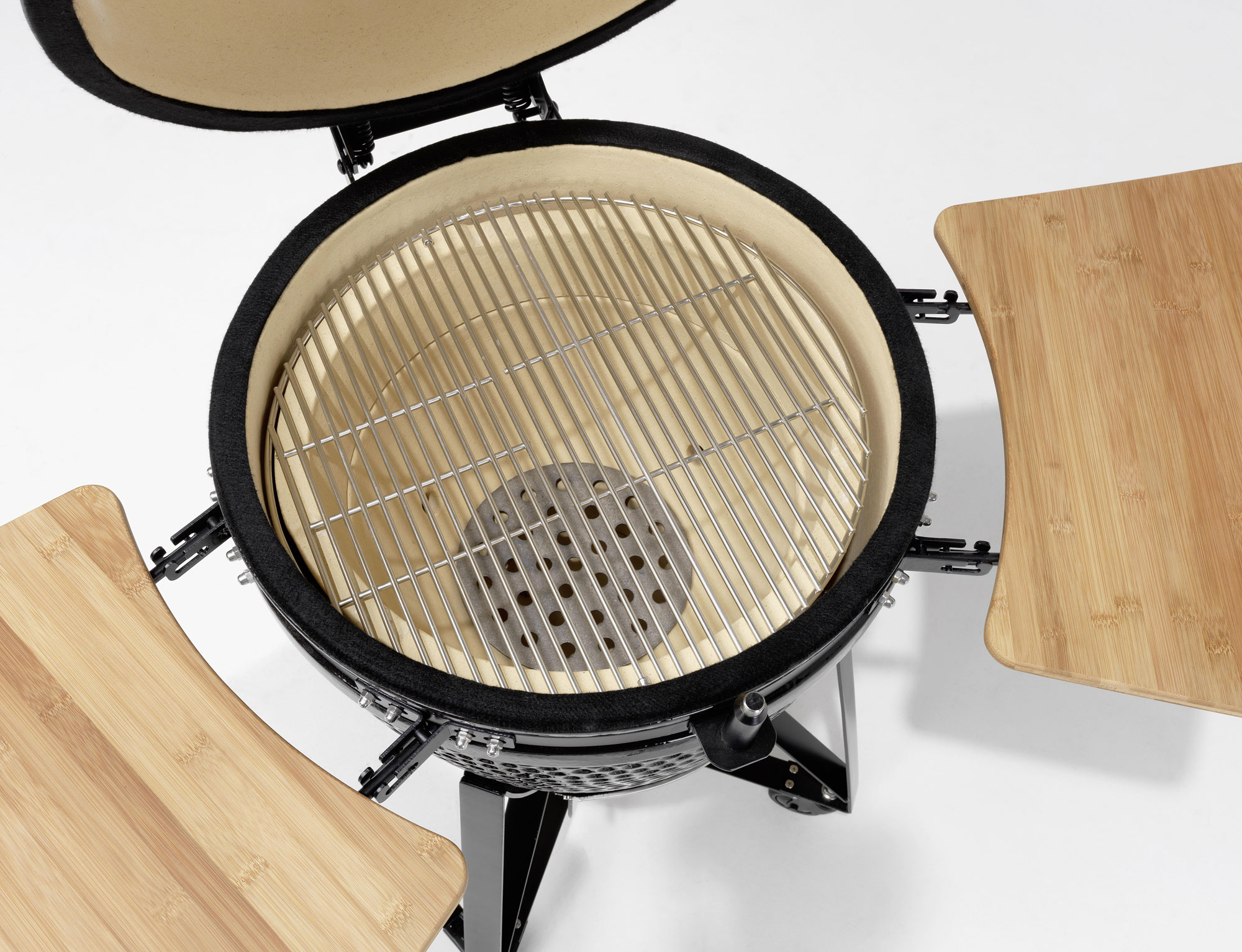 Holzgrill / Keramikgrill Justus Black J'Egg XL Chip Supply Ø47cm Bild 4