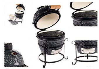 Kamado Action 13-Zoll schwarz Keramikgrill Bild 2