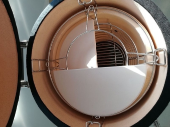 "Kamado-Kitchen Keramikgrill 21,8"" Ø56cm schwarz Bild 9"
