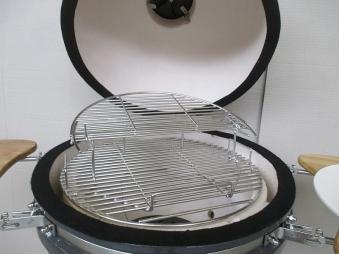 "Kamado-Kitchen Keramikgrill de Luxe 18,8"" Ø48cm schwarz Bild 3"