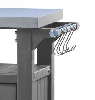 Keter Beistelltisch / Grilltisch 1-türig graphit 70x54x90cm Bild 3
