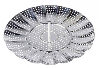 Dünsteinsatz rostfrei verstellbar bis Ø26cm