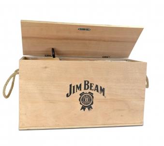 Jim Beam Gusseisernes Kochset Dutch Oven 9tlg in Holztruhe JB0185 Bild 2