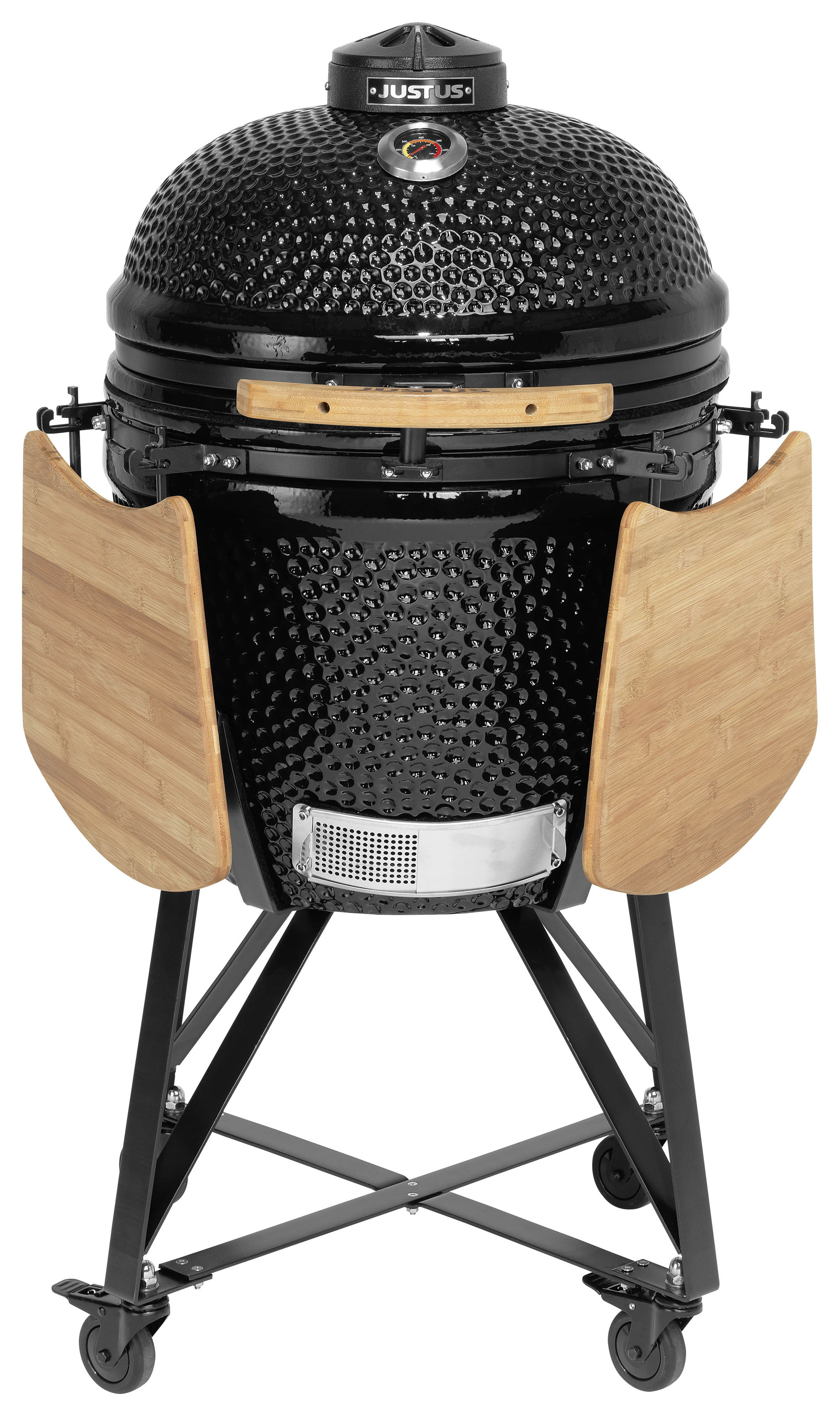 Holzkohlegrill / Keramikgrill Justus Black J'Egg XL Grillfläche Ø47cm Bild 1