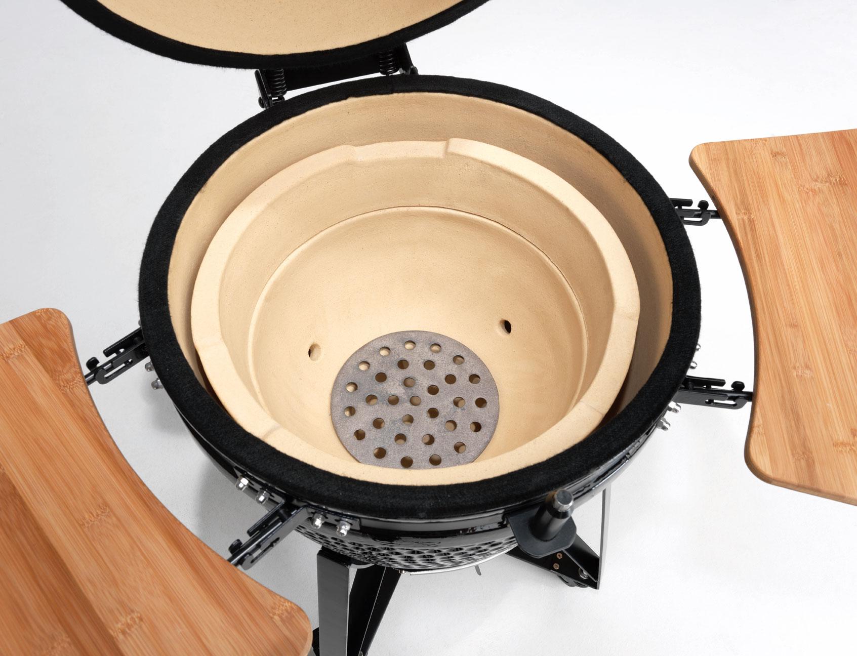 Holzkohlegrill / Keramikgrill Justus Black J'Egg XL Grillfläche Ø47cm Bild 2