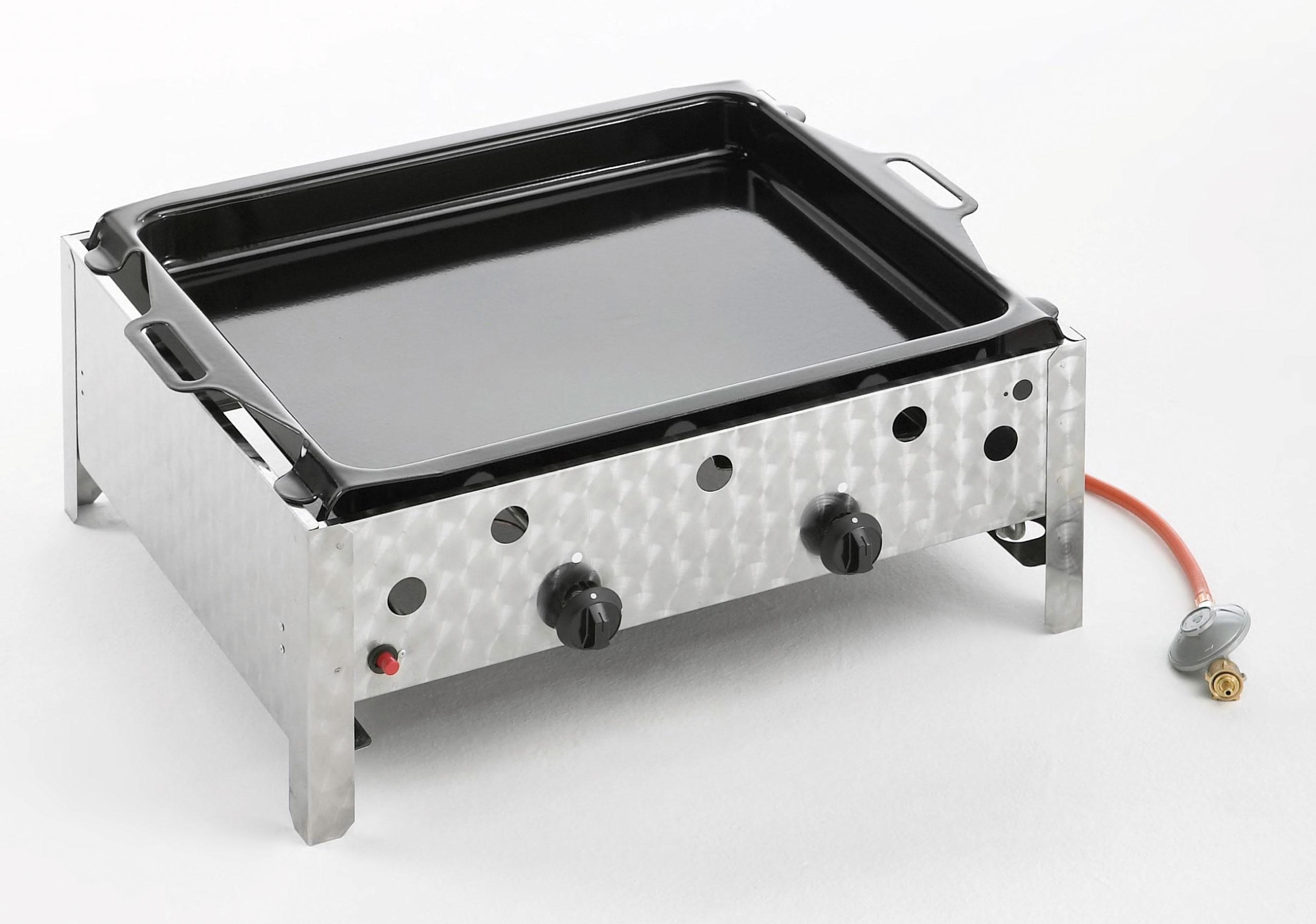 gastrobr ter 2 flammig kleinster mobiler gasgrill. Black Bedroom Furniture Sets. Home Design Ideas