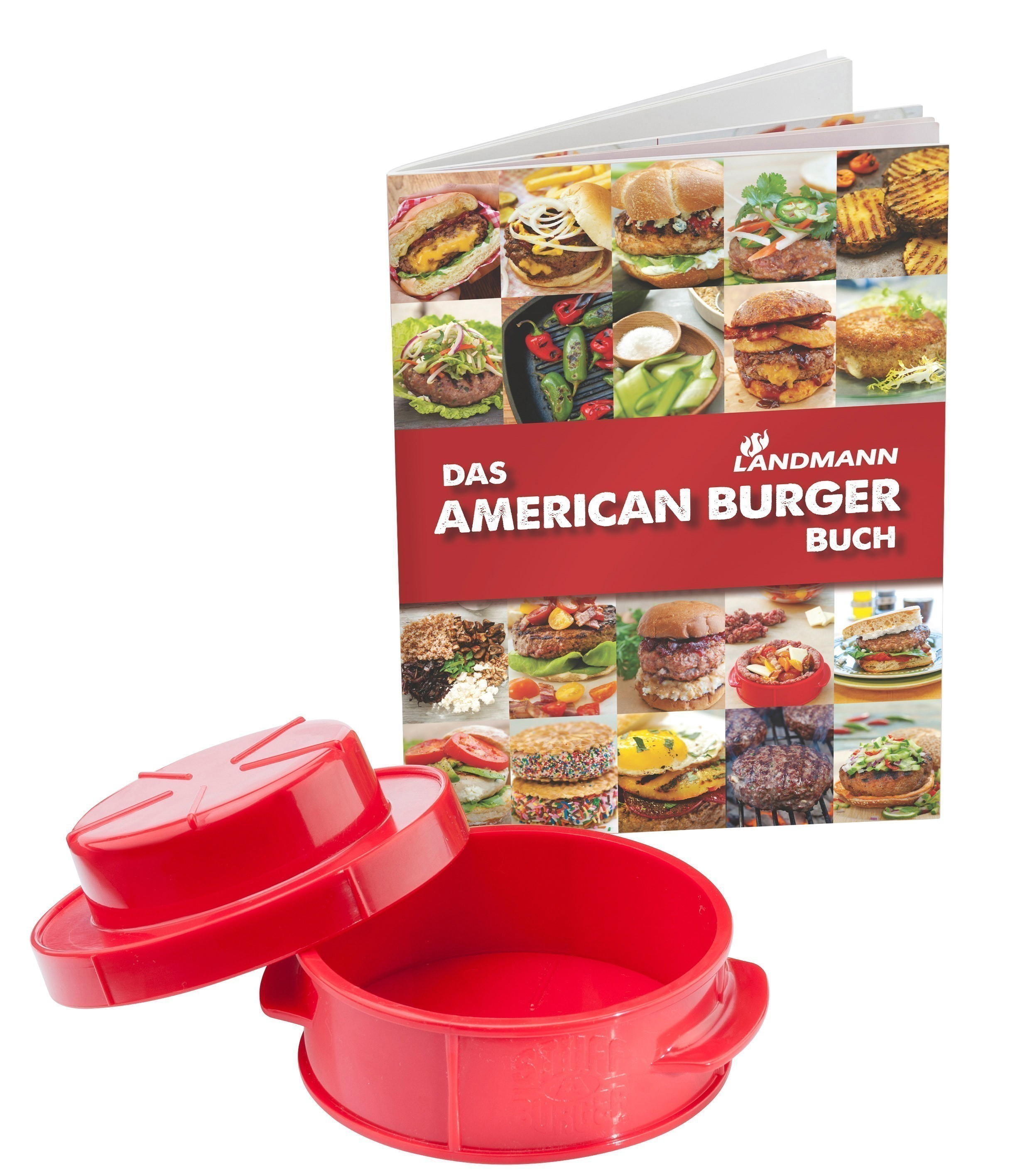 Landmann American Burger Set / Hamburgerpresse mit Rezeptbuch 13709 Bild 1