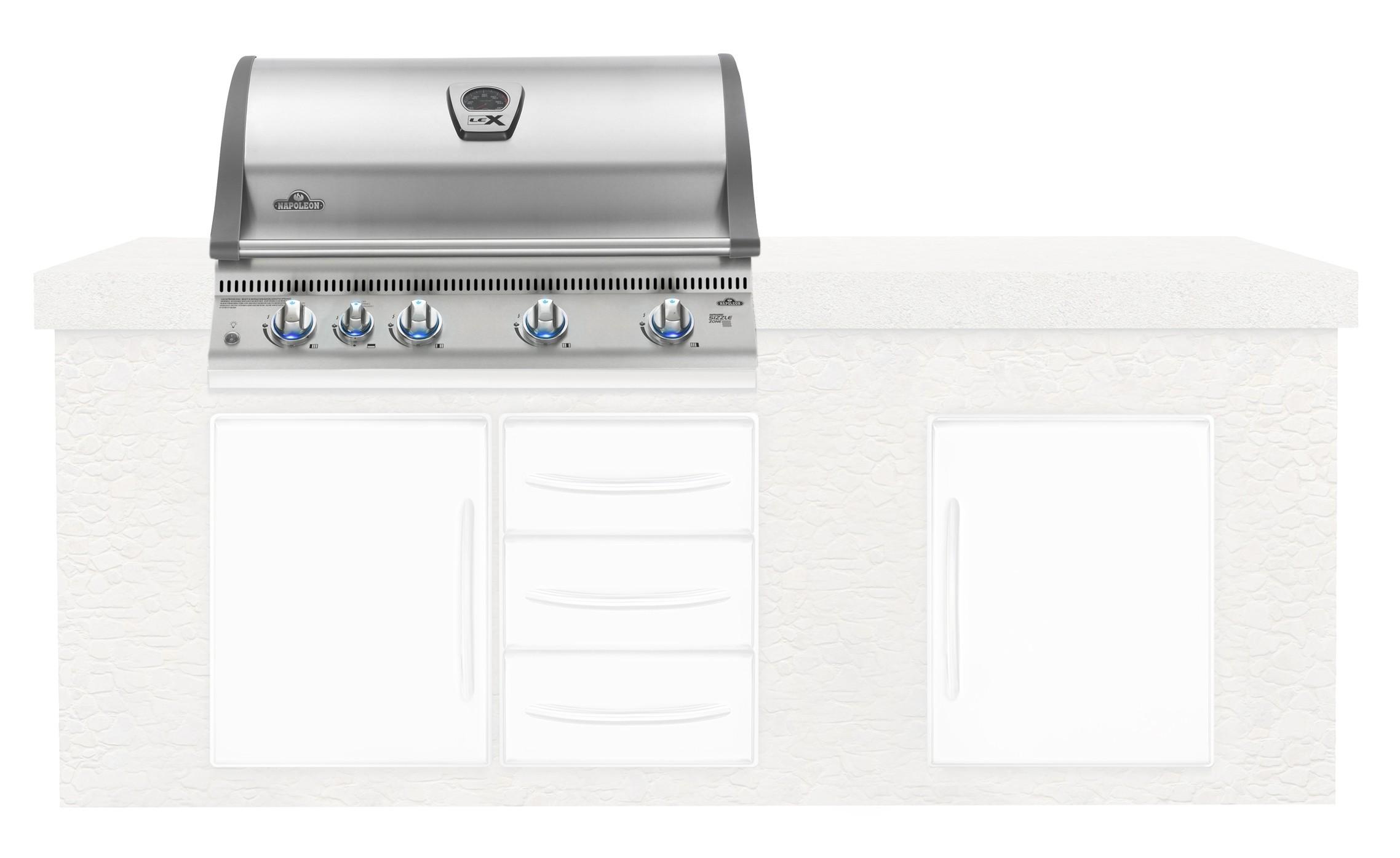 Türen Und Schubladen Für Die Außenküche : Außenküche einbau grillaufsatz napoleon oasis infrarot bilex605rbi