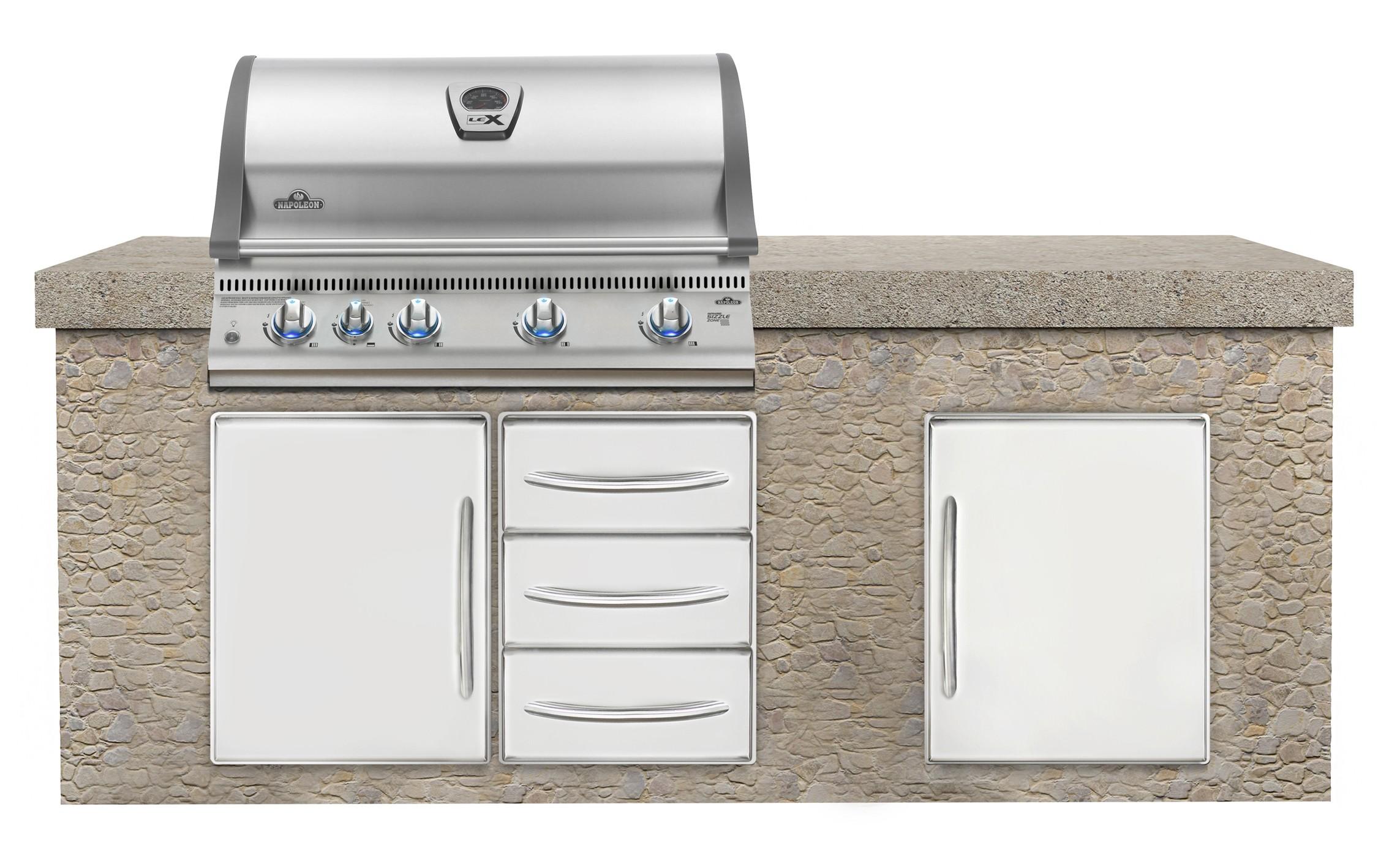 gasgrill einbaugrillaufsatz napoleon lex 605 edelstahl propangas bei. Black Bedroom Furniture Sets. Home Design Ideas