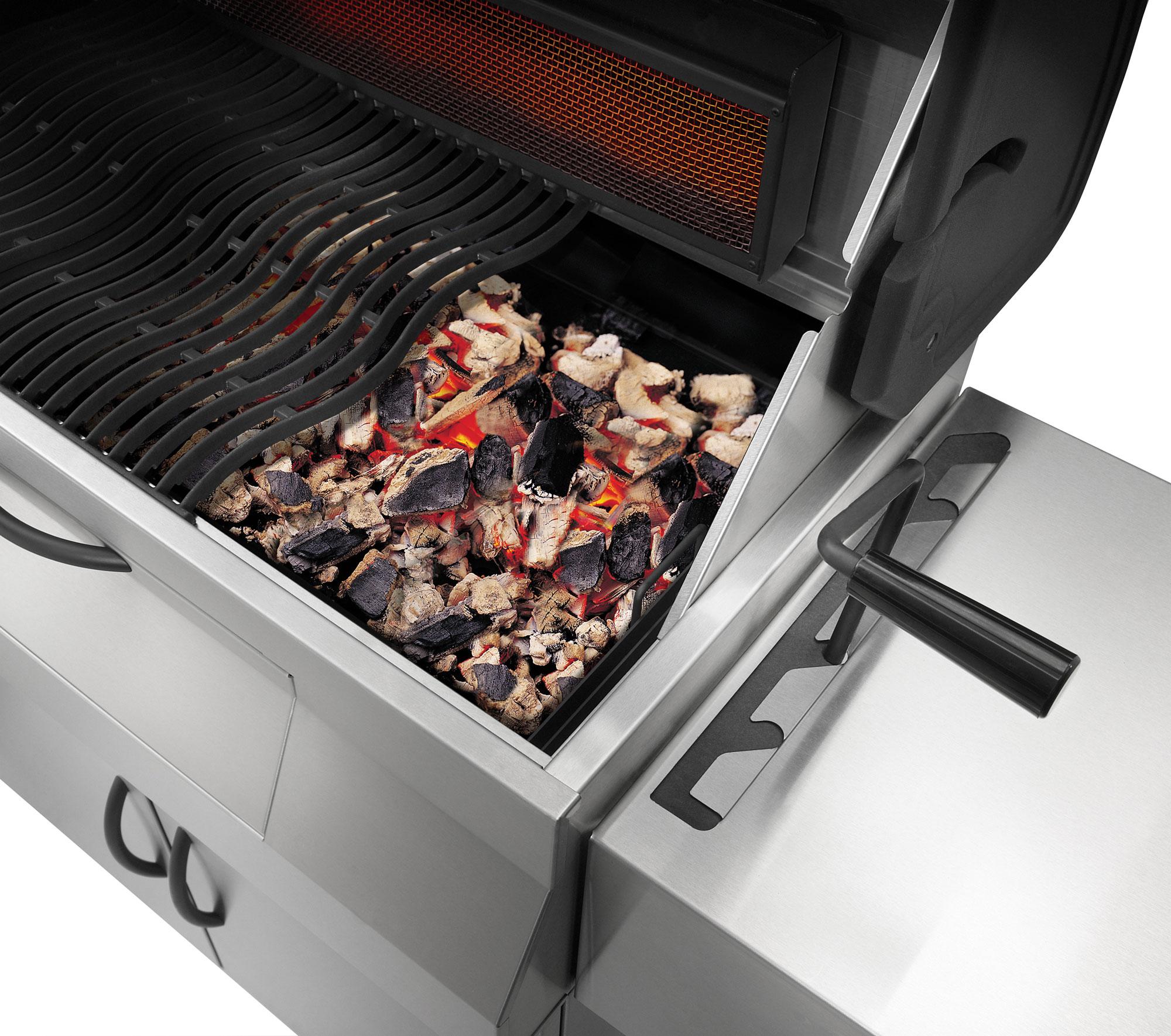 Holzkohlegrill / Grill Napoleon Charcoal Professional PRO605 Edelstahl Bild 3