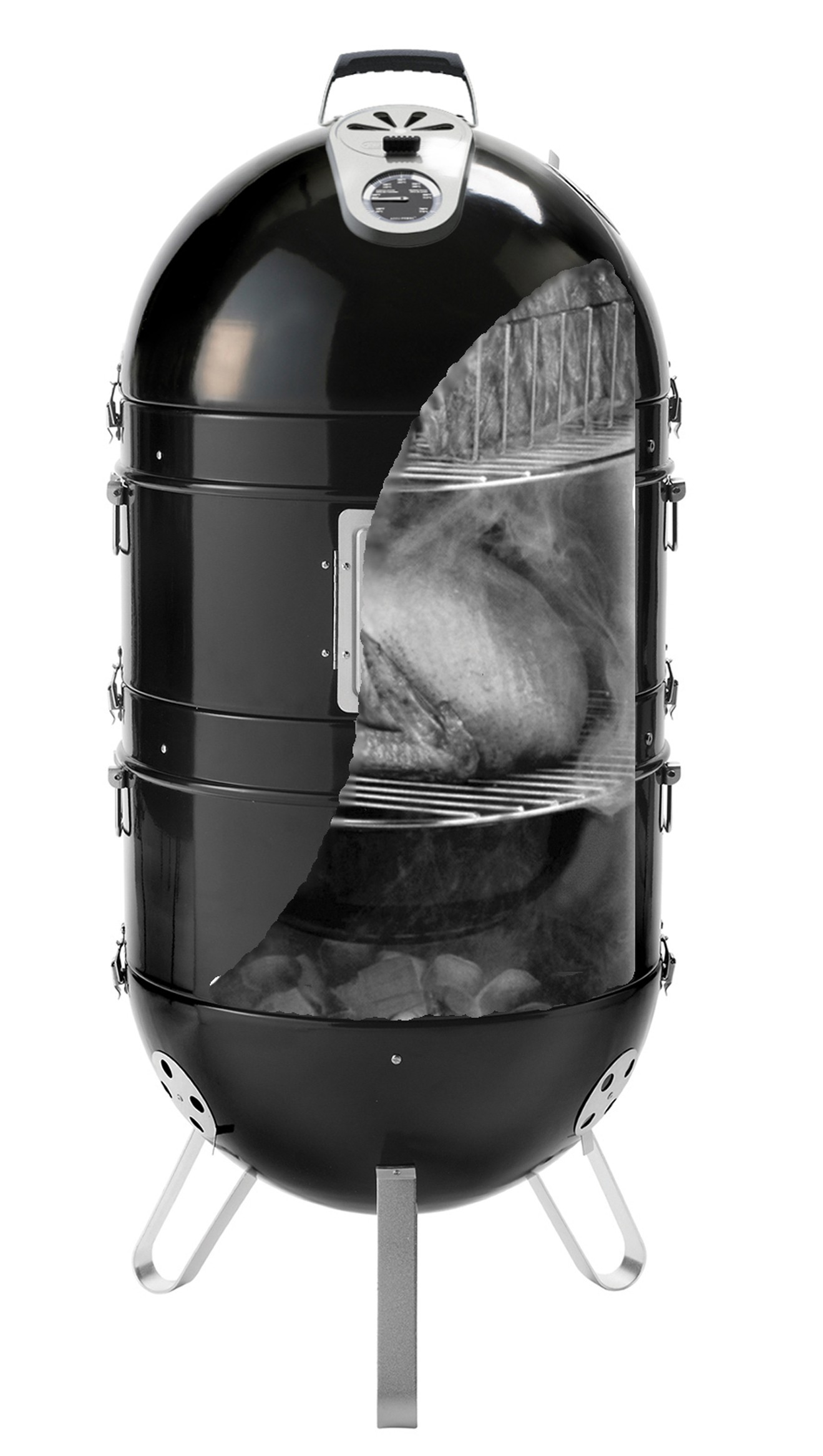 Kugelgrill / Holzkohle Grill Napoleon Apollo 3in1 Smoker AS300K Bild 4