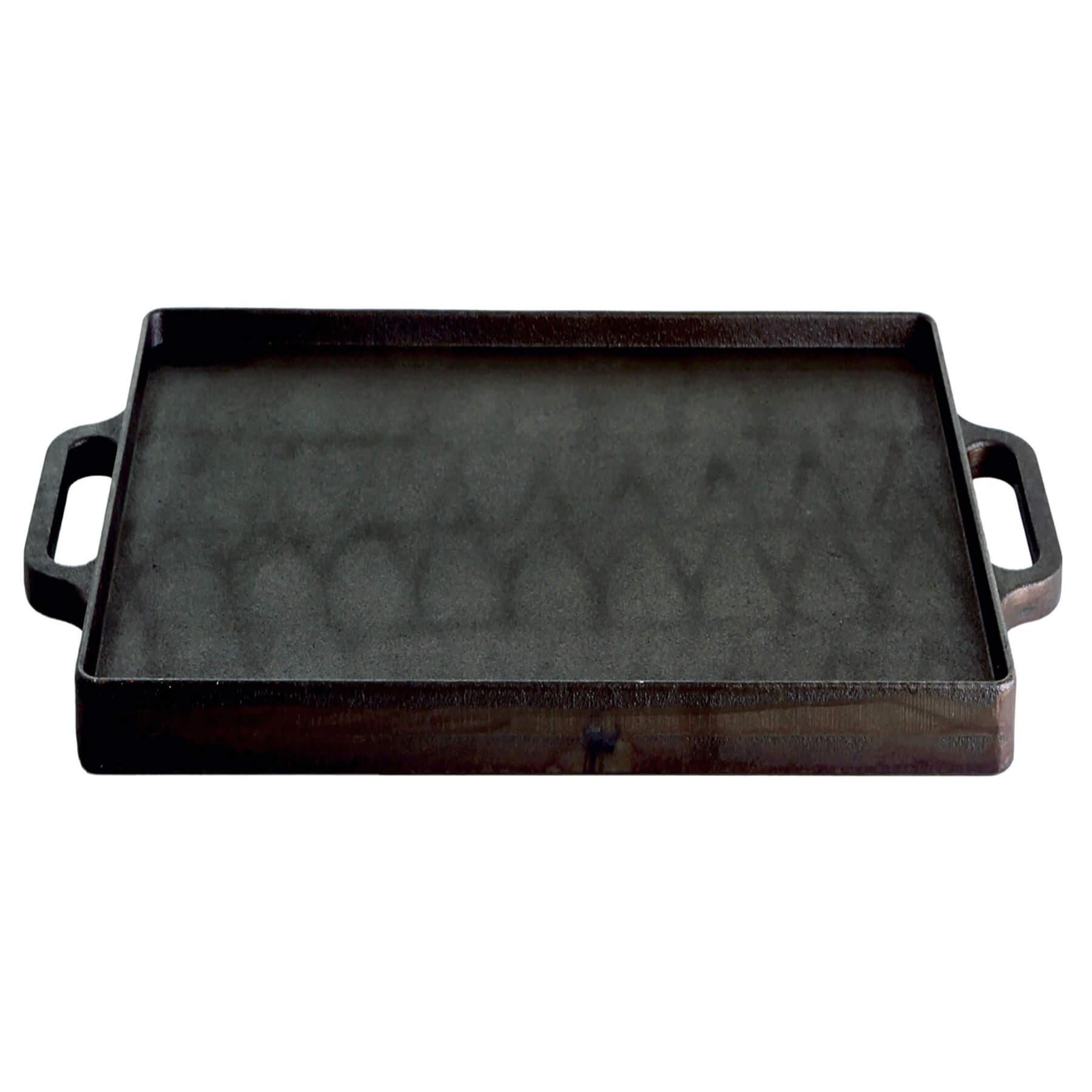 Grillplatte (Plancha) aus Gusseisen, 32 x 32 cm Bild 1