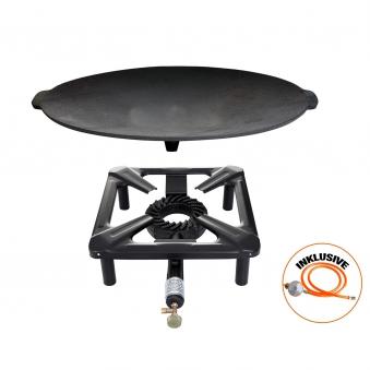 Hockerkocher-Set mit Gusseisengrillschale Ø 45 cm Bild 1