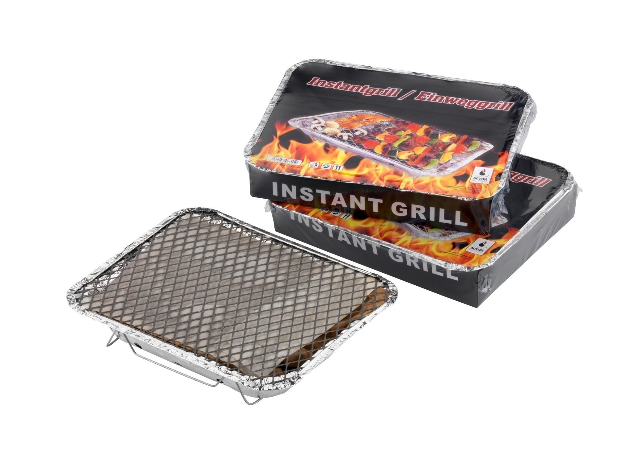 activa grillküche einweggrill / picknick-grill 29x22cm - bei
