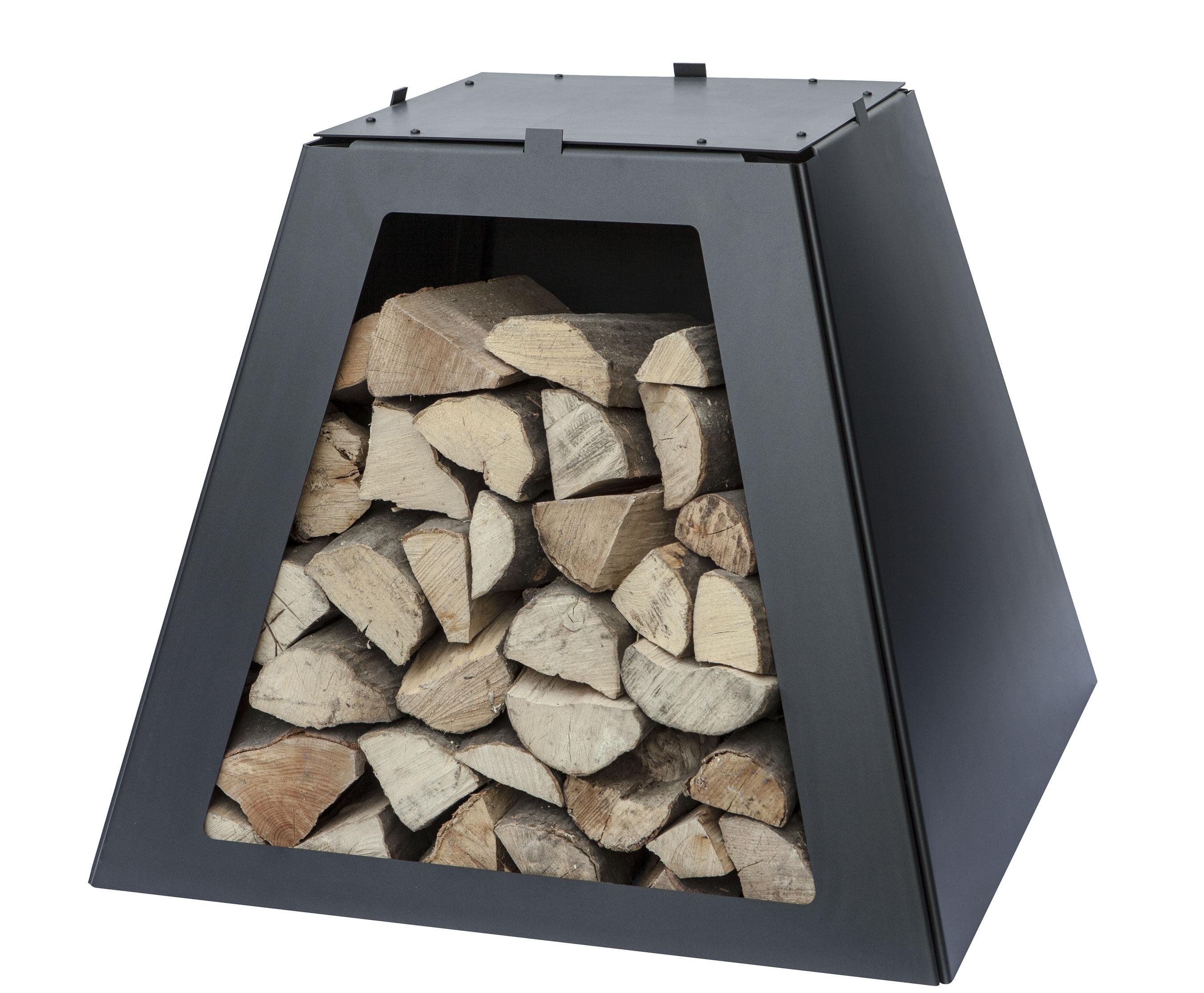 Aduro Prisma Basisholzfach Stahl schwarz Bild 1