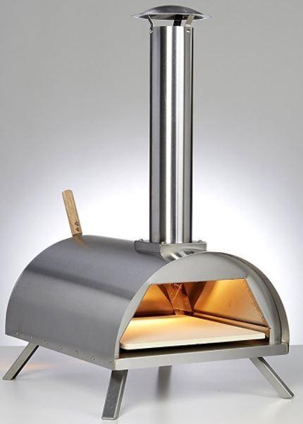 DaDa Edelstahl Outdoor Pizzaofen mit Pizzastein, Flammkuchenofen Bild 1